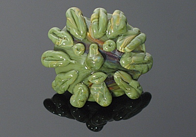 The Green Man - Lampwork Bead