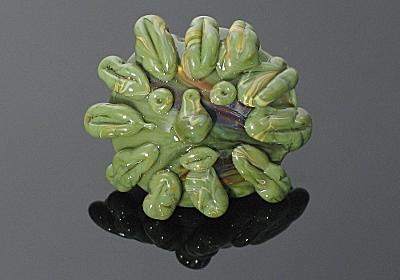 The Green Man - Lampwork Bead