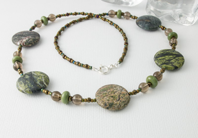 Forest Green Jasper Necklace
