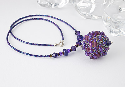 """Violet"" Beaded Necklace"