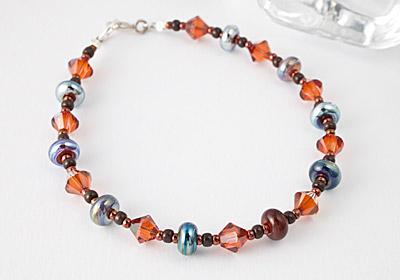 """Kalypso"" Lampwork Bracelet"