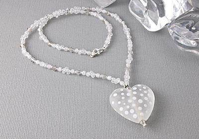 Tumbled Spotty Heart Necklace