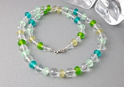 Crystal and Lampwork Necklace