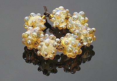 Helio Lampwork Bumpy Beads