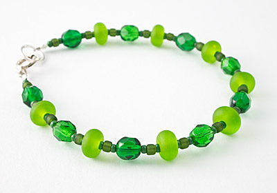 """Green Grass"" Tumbled Bracelet"