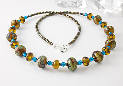 """Ginnie"" Lampwork Necklace"