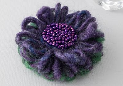 """Heather"" Flower Brooch"