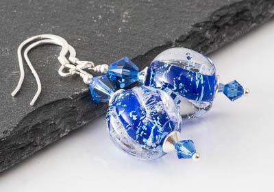 Dichroic Lampwork Earrings