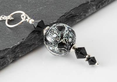 Black Dichroic Lampwork Pendant