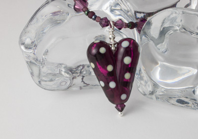 Dark Amethyst Heart Necklace
