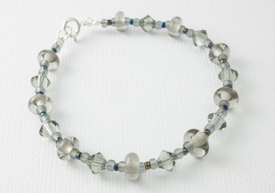 Grey Lampwork Bracelet