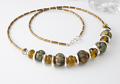 """Maple"" Lampwork Necklace"