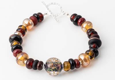 Earthy Lampwork Bracelet