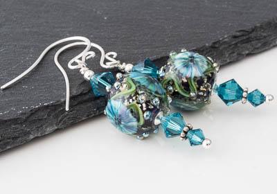 Murrini Lampwork Earrings