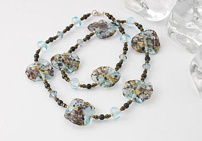 """Waterway"" Lampwork Necklace"
