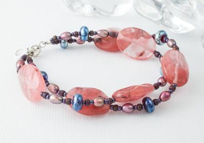 """""""Jamelia"""" Glass Bracelet"""