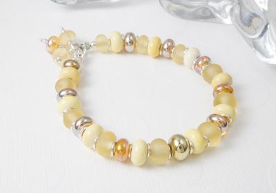 Golden Lampwork Bracelet