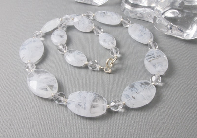 """Cloud"" Beaded Necklace"