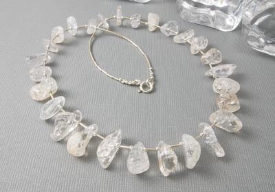 """""""Ice"""" Quartz Necklace"""