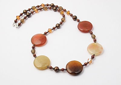 Multi-colour Jade Necklace