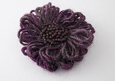 Dusky Purple Flower Brooch