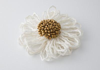 Snow White Flower Brooch