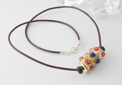 """""""Shimmer"""" Lampwork Necklace"""