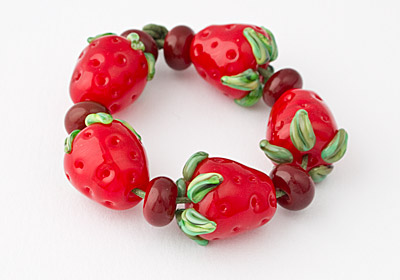 Lampwork Strawberries