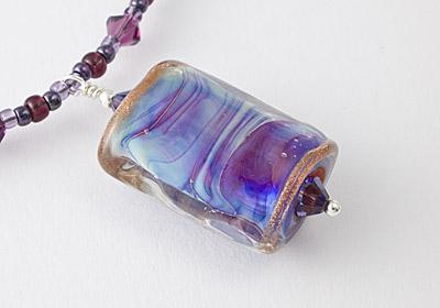 """Lampwork Necklace """"Purple Mist"""""""
