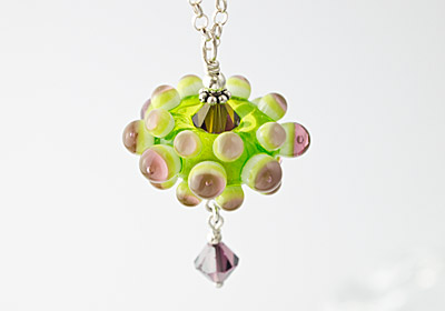 """Green Flower"" Necklace"