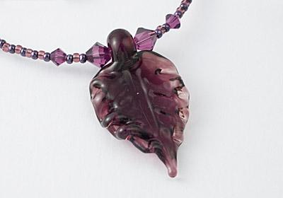 Lampwork Leaf Necklace