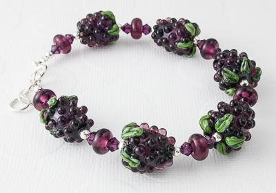 Blackberry Lampwork Bracelet