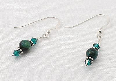 """""""Green Skies"""" Earrings"""