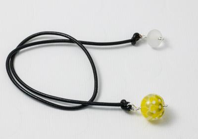 Pistachio Lampwork Bookmark