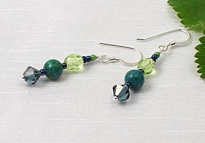 """""""Green Earth"""" Earrings"""