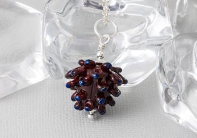 Lampwork Pine Cone Pendant
