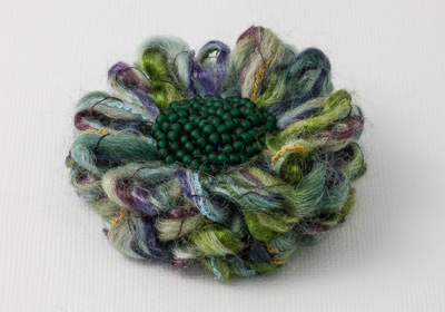 Heather Flower Brooch