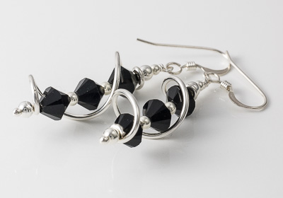 Black Cosmic Crystal Earrings