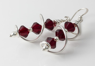 Red Cosmic Crystal Earrings