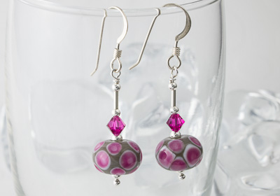 """Retro"" Lampwork Earrings"