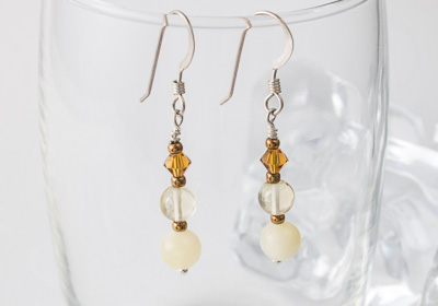 """Honey"" Earrings"