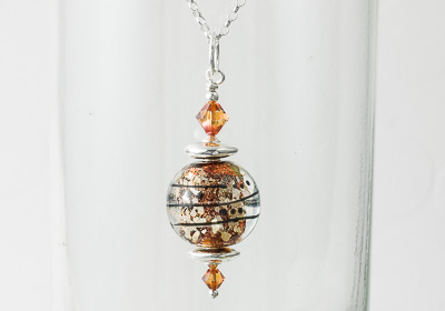 Dichroic Lampwork Pendant