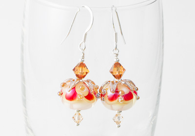 Golden Lampwork Earrings