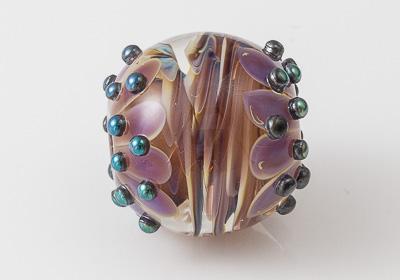 Silver Glass Dahlia Focal Bead