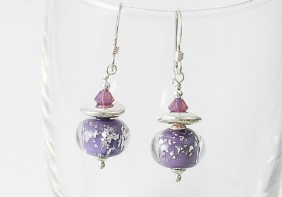 Purple Sparkly Earrings