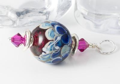 Lampwork Flower Bead Pendant