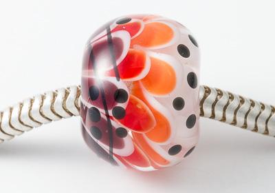 Dahlia Lampwork Charm Bead