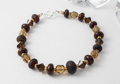 """""""Earth"""" Lampwork Bracelet"""