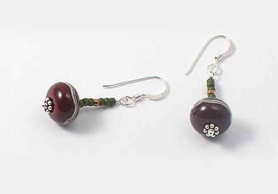 """Amara"" Lampwork Earrings"