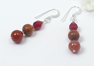 """""""Mars"""" Agate Earrings"""